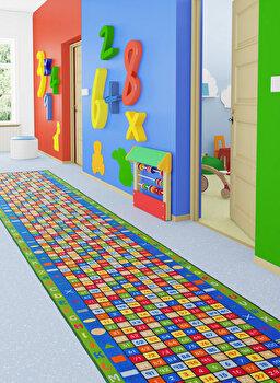 Covor Confetti, poliamida 100 procente, 783CNF8405, 80 x 450 cm, Multicolor