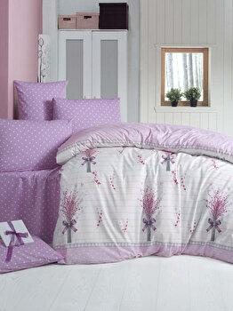 Set lenjerie pentru pat dublu Victoria, 121VCT2609, Multicolor imagine