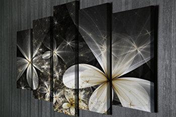 Tablou decorativ pe panza Majestic, 5 Piese, 257MJS3294, Multicolor imagine