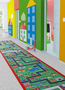 Covor Confetti, poliamida 100 procente, 783CNF8611, 80 x 250 cm, Multicolor