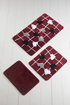 Set covorase baie Chilai Home by Alessia, 351ALS2029, 3 piese, acril, Multicolor imagine