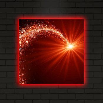 Tablou iluminat Shining, 239SHN4291, 40 x 40 cm, Multicolor