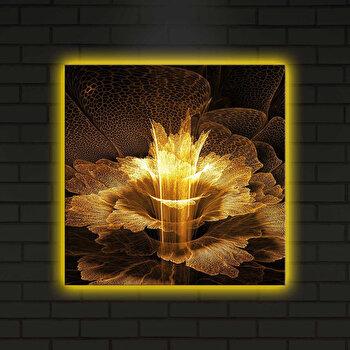 Tablou iluminat Shining, 239SHN4281, 40 x 40 cm, Multicolor elefant