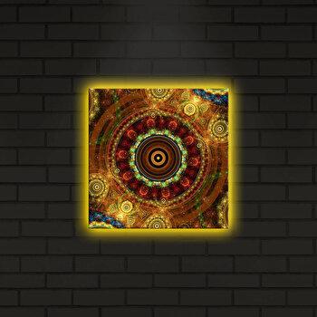 Tablou pe panza iluminat Shining, 239SHN4275, Multicolor elefant