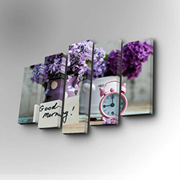 Tablou decorativ pe panza Art Five, 5 Piese, 747AFV1258, Mov
