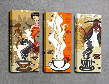 Tablou decorativ pe panza Majestic, 3 Piese, 257MJS1329, Multicolor imagine