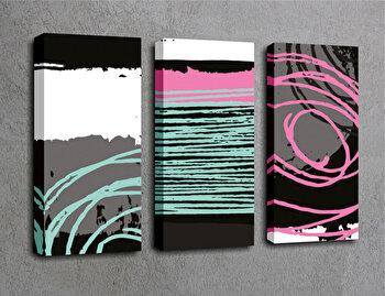 Tablou decorativ pe panza Majestic, 3 Piese, 257MJS1334, Multicolor imagine