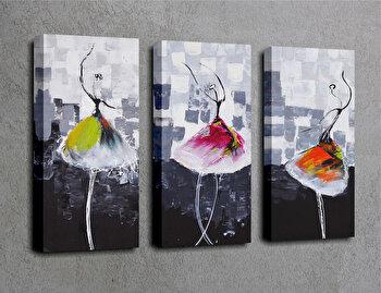 Tablou decorativ pe panza Majestic, 3 Piese, 257MJS1337, Multicolor elefant