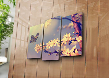 Tablou decorativ Bonanza,3 Piese, 242BNZ3232, Multicolor elefant