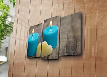 Tablou decorativ Bonanza,3 Piese, 242BNZ3246, Multicolor elefant