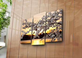Tablou decorativ Bonanza,3 Piese, 242BNZ3205, Multicolor elefant