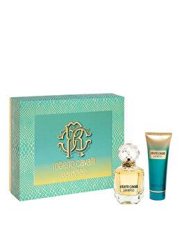 Set cadou Roberto Cavalli Paradiso (Apa de parfum 50 ml + Lotiune de corp 75 ml), pentru femei imagine produs