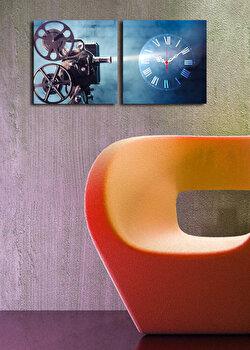 Ceas decorativ de perete Clock Art 2 Piese 228CLA2608 Multicolor