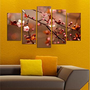 Tablou decorativ multicanvas Charm, 5 Piese, Flori, 223CHR1920, Multicolor imagine