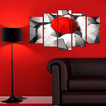 Tablou decorativ multicanvas Charm, 5 Piese, Retro, 223CHR1942, Multicolor imagine