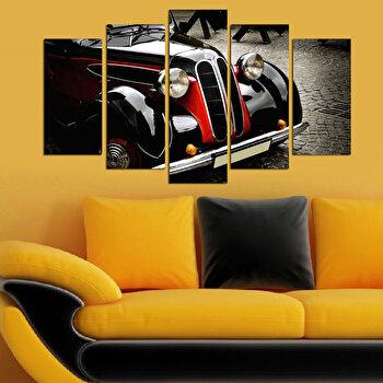 Tablou decorativ multicanvas Charm, 5 Piese, Retro, 223CHR1972, Multicolor