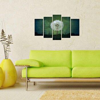 Tablou decorativ multicanvas Charm, 5 Piese, 223CHR2946, Verde