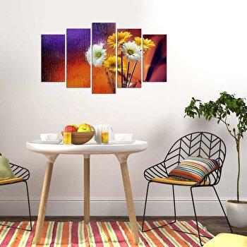 Tablou decorativ multicanvas Charm, 5 Piese, Flori, 223CHR2959, Multicolor