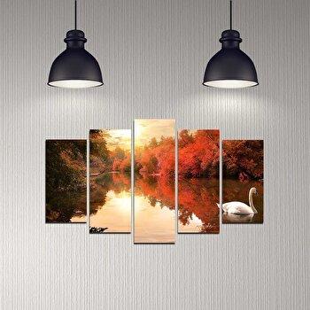 Tablou decorativ multicanvas Melody, 5 Piese, 232MLD2908, Multicolor elefant