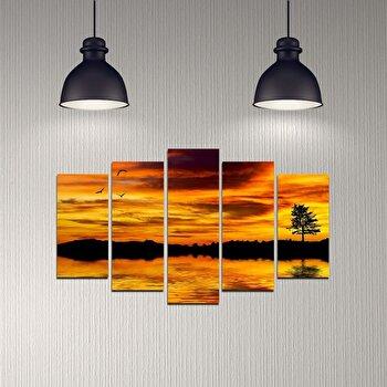 Tablou decorativ multicanvas Melody, 5 Piese, 232MLD1989, Multicolor