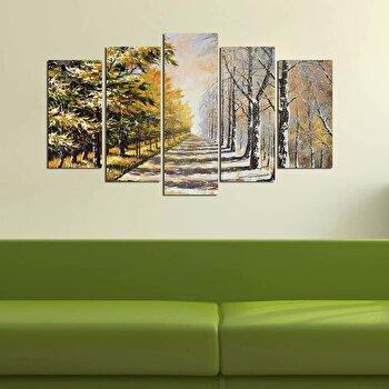 Tablou decorativ multicanvas Melody, 5 Piese, 232MLD1904, Multicolor imagine