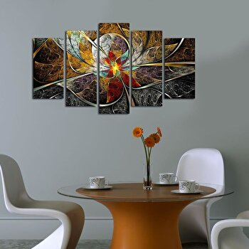 Tablou decorativ multicanvas Pure, 5 Piese, 250PUR1911, Multicolor