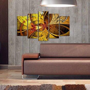 Tablou decorativ multicanvas Pure, 5 Piese, 250PUR1905, Multicolor elefant