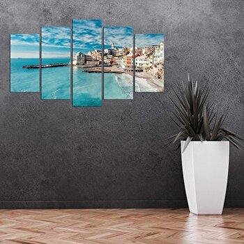 Tablou decorativ multicanvas Pure, 5 Piese, 250PUR3901, Multicolor elefant
