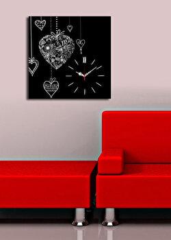 Ceas decorativ de perete Clock Art, 228CLA1662, Multicolor elefant
