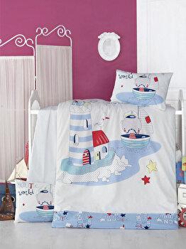 Set lenjerie de pat Victoria, pentru copii, 121VCT2026, Alb imagine