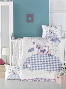 Set lenjerie de pat Victoria, pentru copii, 121VCT2030, Alb imagine