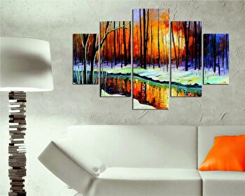 Tablou decorativ multicanvas Destiny, 5 Piese, 247DST1937, Multicolor
