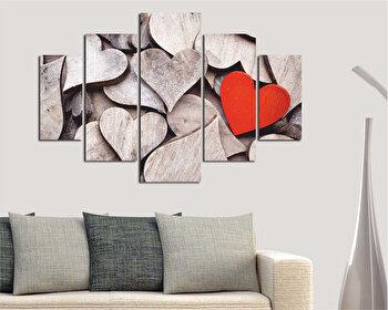 Tablou decorativ multicanvas Destiny, 5 Piese, 247DST2901, Multicolor elefant