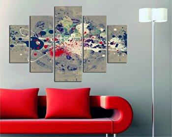 Tablou decorativ multicanvas Destiny, 5 Piese, 247DST2909, Multicolor imagine