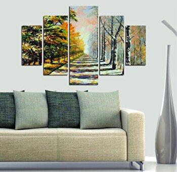Tablou decorativ multicanvas Miracle, 5 Piese, 236MIR1968, Multicolor