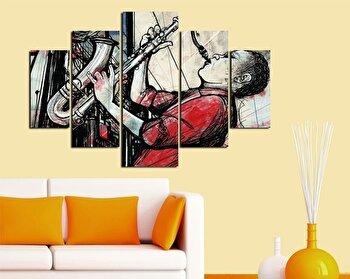 Tablou decorativ multicanvas Miracle, 5 Piese, 236MIR1969, Multicolor imagine