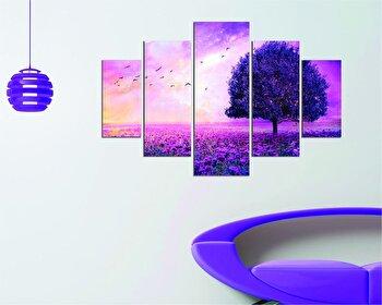 Tablou decorativ multicanvas Miracle, 5 Piese, Natura, 236MIR2902, Multicolor elefant