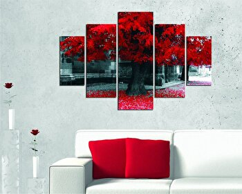 Tablou decorativ multicanvas Miracle, 5 Piese, Natura, 236MIR2903, Multicolor