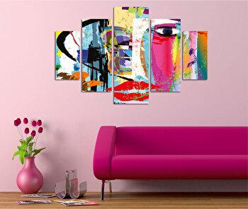Tablou decorativ multicanvas Miracle Abstract, 236MIR2940, Multicolor elefant