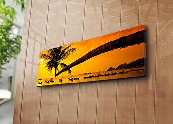 Tablou decorativ pe panza Horizon, 237HRZ1260, 30 x 90 cm, Multicolor imagine