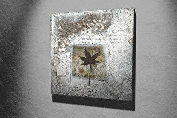 Tablou decorativ pe panza Majestic, 257MJS1254, 45 x 45 cm, Multicolor imagine