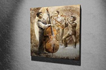 Tablou decorativ pe panza Majestic, 257MJS1256, 45 x 45 cm, Multicolor imagine