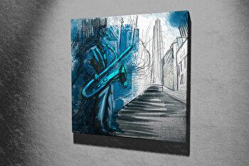 Tablou decorativ pe panza Majestic, 257MJS1258, 45 x 45 cm, Multicolor