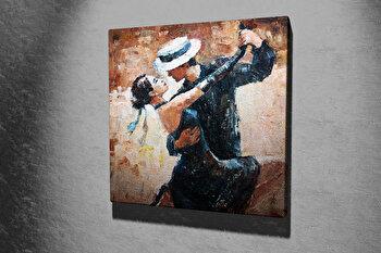 Tablou decorativ pe panza Majestic, 257MJS1262, 45 x 45 cm, Multicolor