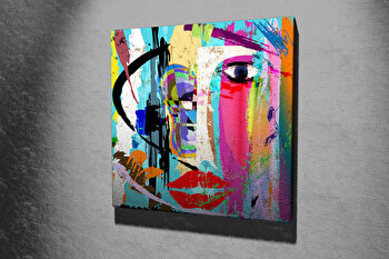Tablou decorativ pe panza Majestic, 257MJS1265, 45 x 45 cm, Multicolor imagine