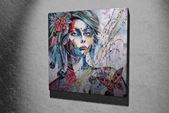 Tablou decorativ pe panza Majestic, 257MJS1268, 45 x 45 cm, Multicolor imagine