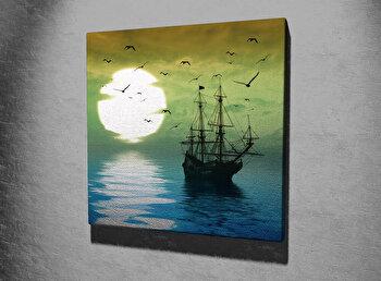 Tablou decorativ pe panza Majestic, 257MJS3247, 45 x 45 cm, Multicolor imagine