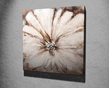 Tablou decorativ pe panza Majestic, 257MJS3260, 45 x 45 cm, Bej imagine