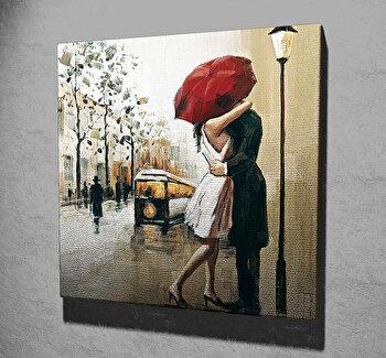 Tablou decorativ pe panza Majestic, 257MJS1310, 45 x 45 cm, Multicolor imagine