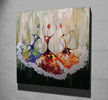 Tablou decorativ pe panza Majestic, 257MJS1311, 45 x 45 cm, Multicolor imagine